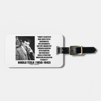 Nikola Tesla Scientists Equation No Relation Quote Luggage Tag