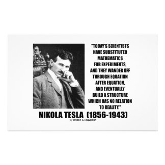Nikola Tesla Scientists Equation No Relation Quote Stationery