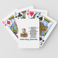 Nikola Tesla Scientists From Franklin To Morse Bicycle Playing Cards