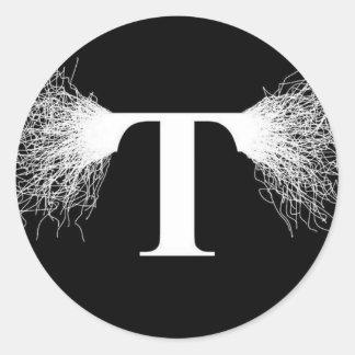 Nikola Tesla - Tesla Coil - Lightning Classic Round Sticker