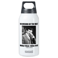 Nikola Tesla The Wizard Of The West 10 Oz Insulated SIGG Thermos Water Bottle