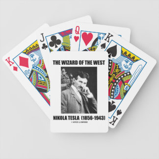 Nikola Tesla The Wizard Of The West Bicycle Playing Cards