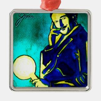 Nikola Tesla - Think Green Ornament