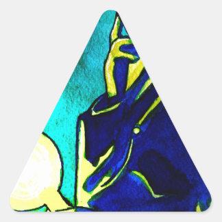 Nikola Tesla - Think Green Triangle Sticker