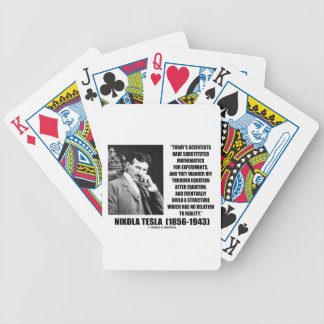 Nikola Tesla Today's Scientists Substituted Math Bicycle Playing Cards