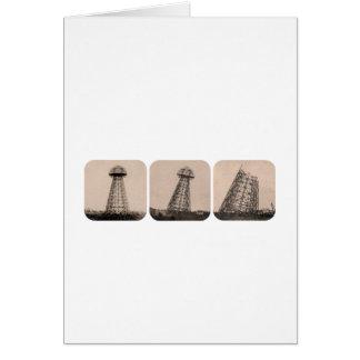 Nikola Tesla Tower Card