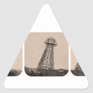 Nikola Tesla Tower Triangle Sticker