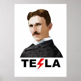 Nikola Tesla, Triangulated Poster