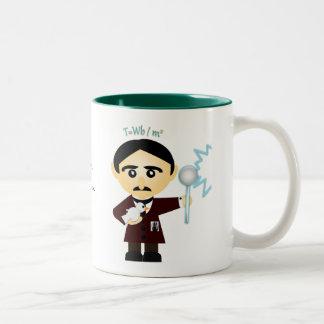 Nikola Tesla Two-Tone Coffee Mug