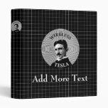 Nikola Tesla Vinyl Binder
