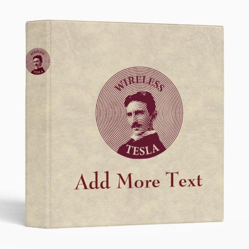 Nikola Tesla Vinyl Binders