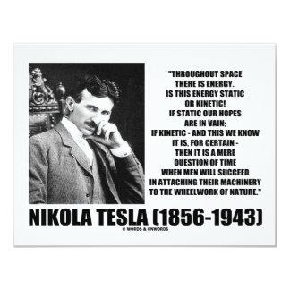 Nikola Tesla Wheelwork de la energía cinética de Invitación 10,8 X 13,9 Cm
