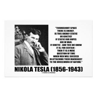 Nikola Tesla Wheelwork de la energía cinética de Papelería Personalizada