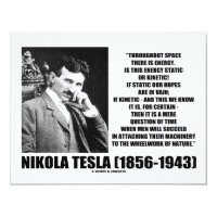 Nikola Tesla Wheelwork Of Nature Kinetic Energy 4.25x5.5 Paper Invitation Card