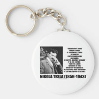 Nikola Tesla Wheelwork Of Nature Kinetic Energy Basic Round Button Keychain