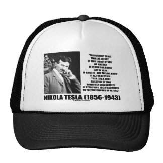 Nikola Tesla Wheelwork Of Nature Kinetic Energy Trucker Hats