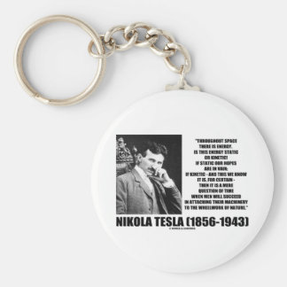 Nikola Tesla Wheelwork Of Nature Kinetic Energy Keychain