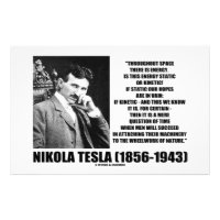 Nikola Tesla Wheelwork Of Nature Kinetic Energy Stationery