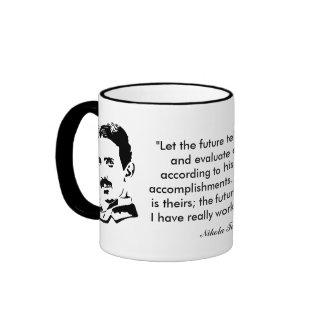 Nikola Tesla y cita Tazas