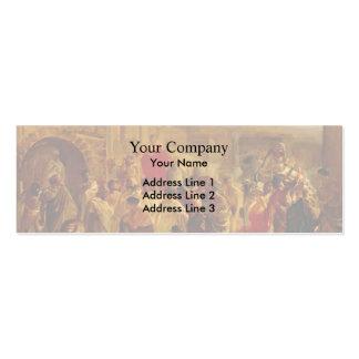 Nikolai Ge- Death of Virginia, Study Business Card Templates
