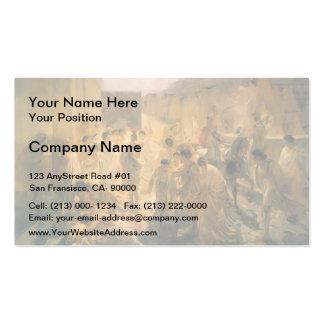 Nikolai Ge- Death of Virginia, Study Business Card