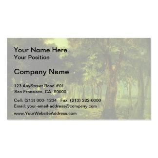 Nikolai Ge- Florence. The Cascina Park Business Card