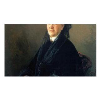 Nikolai Ge- Portrait of Anna Olsufyeva Business Card Template
