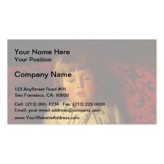 Nikolai Ge- Portrait of Nikolay Ge, the Grandson Business Card Templates