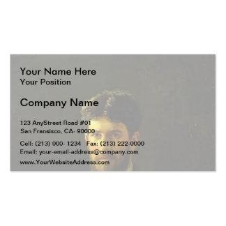 Nikolai Ge- Portrait of Piotr Ge, the Artist's Son Business Card Template
