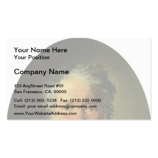 Nikolai Ge- Portrait of Piotr Zabela Business Card Templates