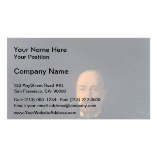 Nikolai Ge- Portrait of the Poet Nikolay Nekrasov Business Card Templates