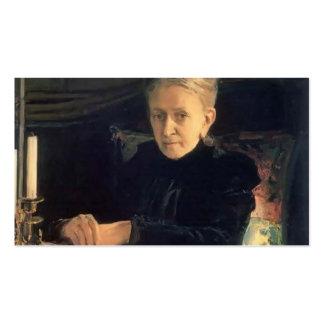 Nikolai Ge- Portrait of Yelena Likhachova Business Card Templates
