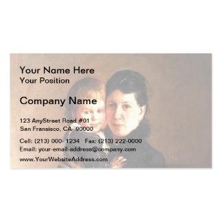 Nikolai Ge- Sophia Tolstaya Business Card
