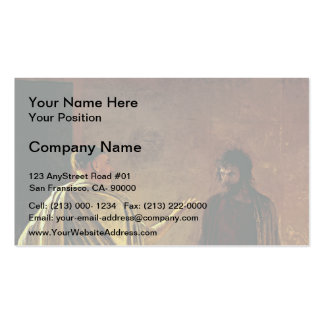 Nikolai Ge- What is Truth. Christ and Pilate Business Card Templates