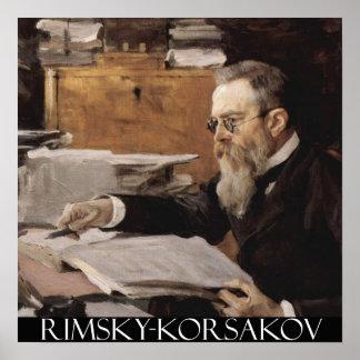 Nikolai Rimsky-Korsakov Customizable Poster