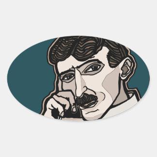 NikolaTesla Oval Sticker
