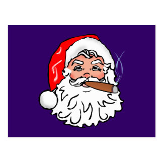 Nikolaus papá noel cigarro Papá Noel cigar Postal