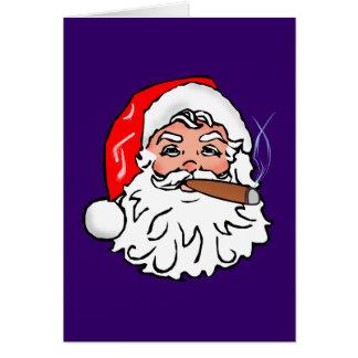 Nikolaus papá noel cigarro Papá Noel cigar Tarjeta De Felicitación