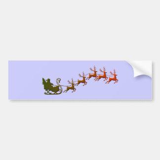 Nikolaus Papá Noel trineo sleigh Pegatina De Parachoque