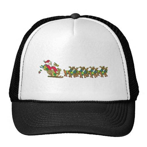 Nikolaus Santa Claus Schlitten sleigh Trucker Caps