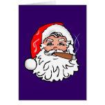 Nikolaus Weihnachtsmann Zigarre Santa Claus cigar Grußkarte