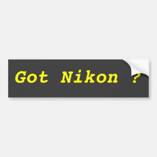 ¿Nikon conseguido? Pegatina Para Auto
