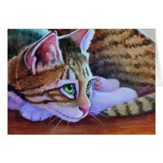 Nikos Sorta Tabby Cat Card