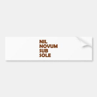 nil new fact sub brine car bumper sticker
