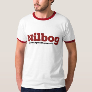 Nilbog es goblin deletreado al revés polera