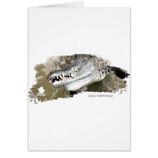 Nile Crocodile 01 Greeting Card
