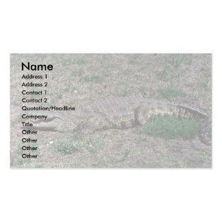 Nile Crocodile Business Card Template