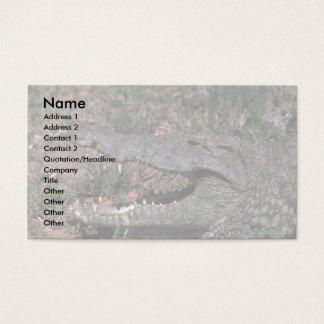 Nile Crocodile Business Card