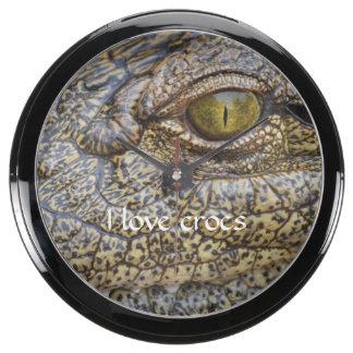 Nile crocodile from Africa Aqua Clocks