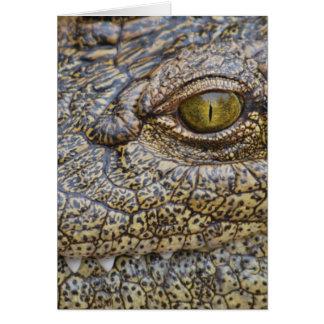 Nile crocodile from Africa Greeting Card